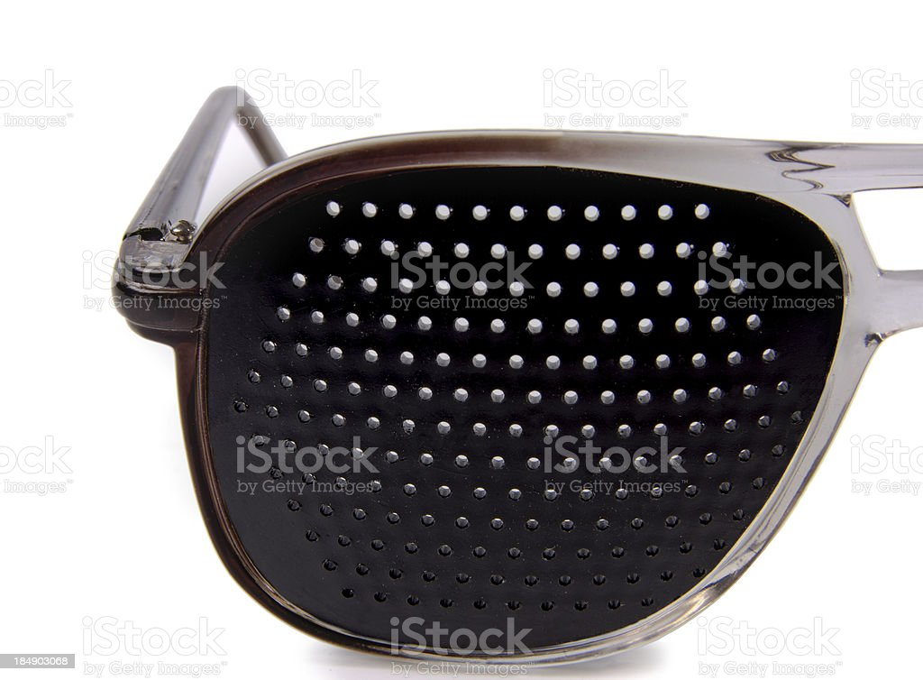 The glasses are used to train  eyesight royalty-free stock photo
