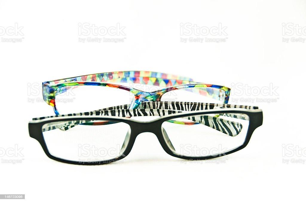The glasses stock photo