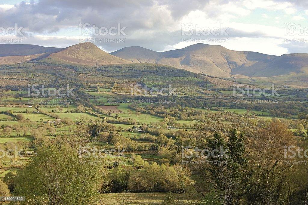 The Glen of Aherlow stock photo