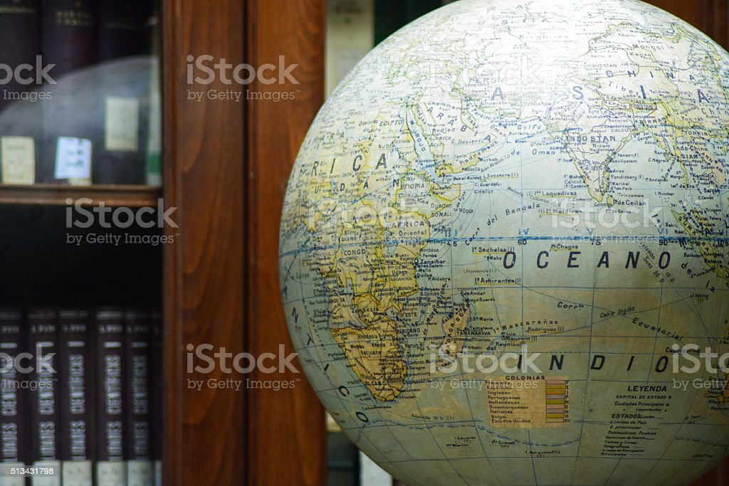The globe can always teach us something new stock photo