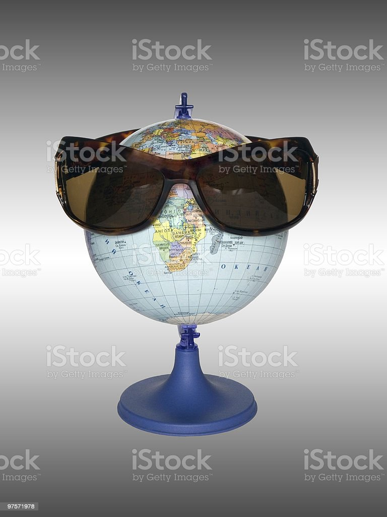 The globe in points stock photo