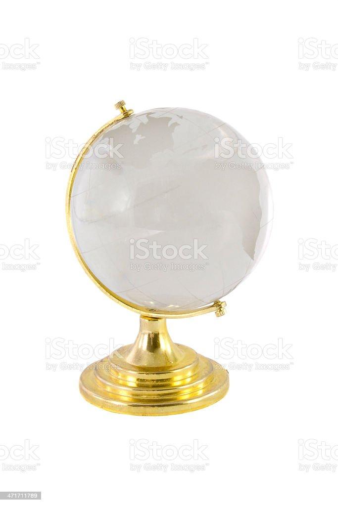 The globe isolated over white background stock photo