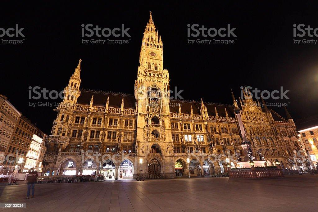 The Glockenspiel in Munich,Germany stock photo