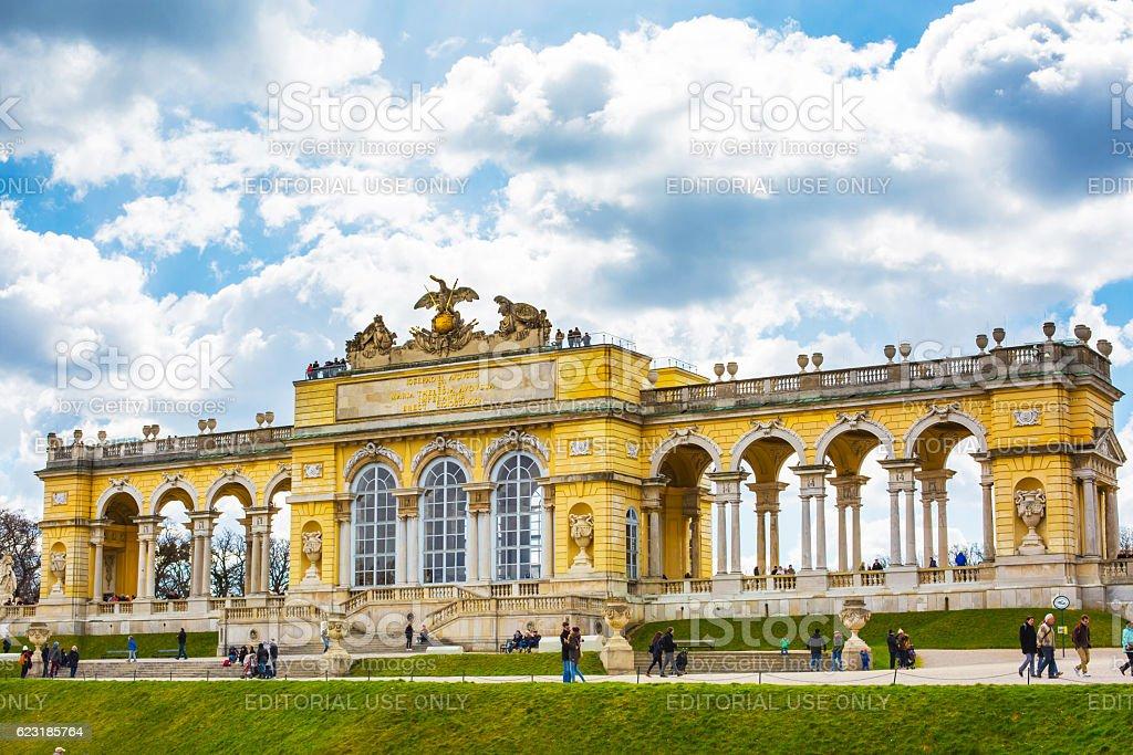 The Gloriette in the Schonbrunn Garden, Vienna, Austria stock photo