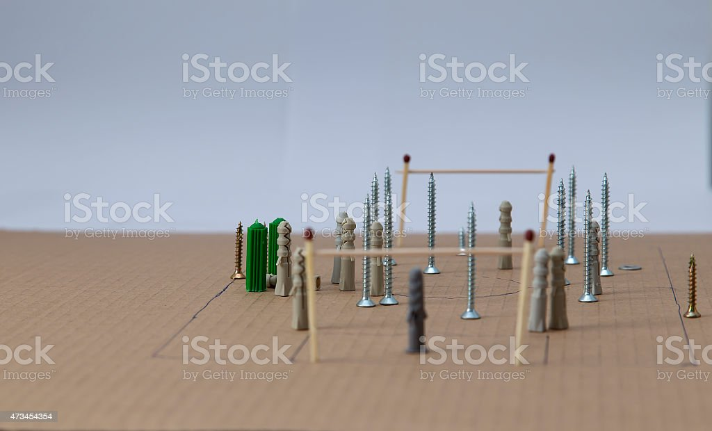 The goalie view royalty-free stock photo
