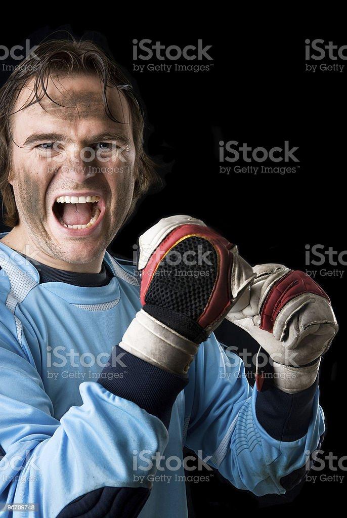 The goalkeeper royalty-free stock photo