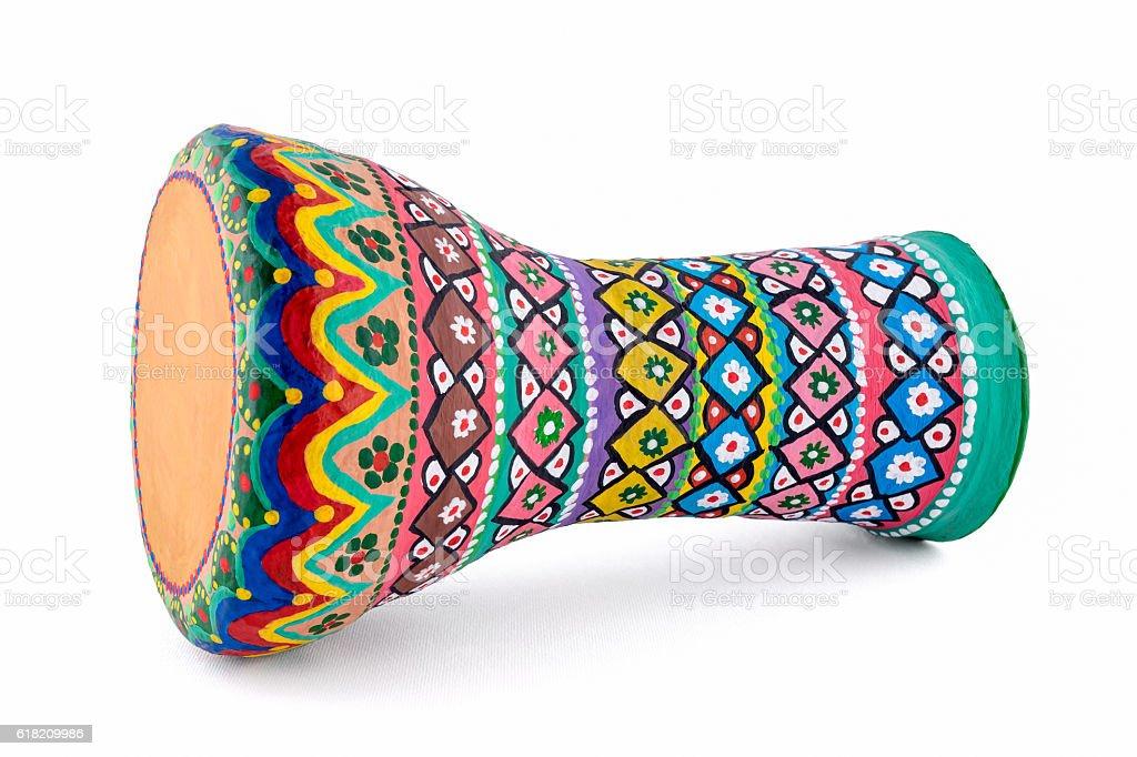 The goblet drum (also chalice drum, tarabuka, darbuka, debuka) stock photo