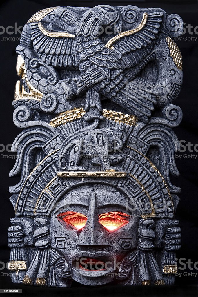 The god is angry stock photo
