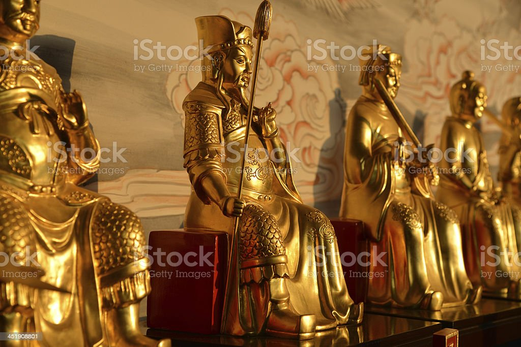 The god statues in Taoist temple royalty-free stock photo
