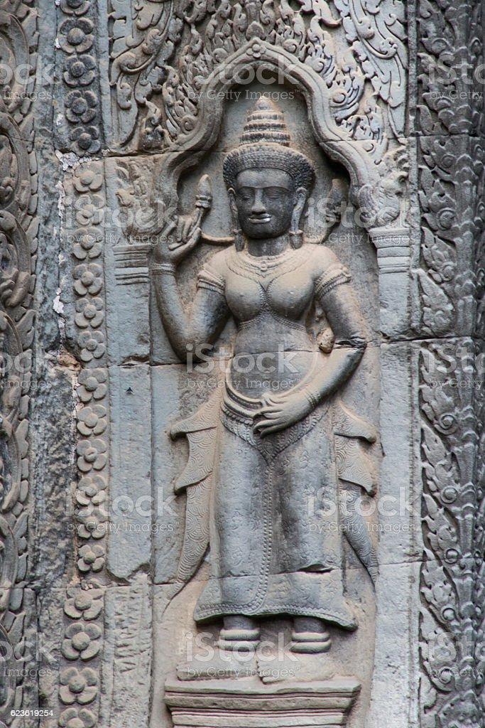 The goddess Ta Prohm stock photo