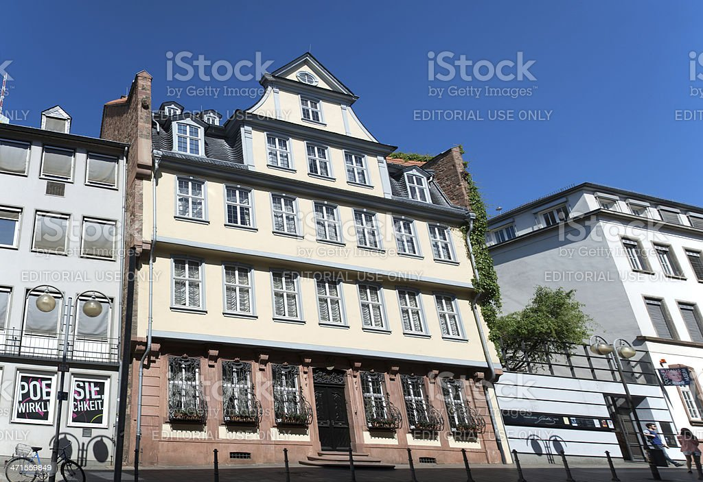The Goethe House - Frankfurt am Main, Germany stock photo