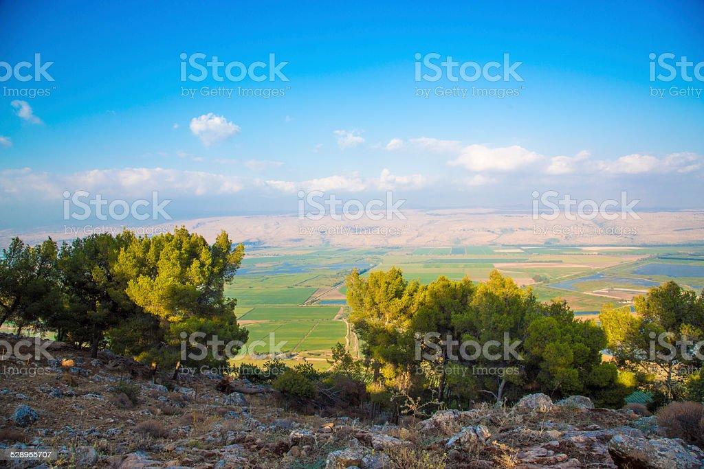 The golan heights and the Galilee - Israel stock photo