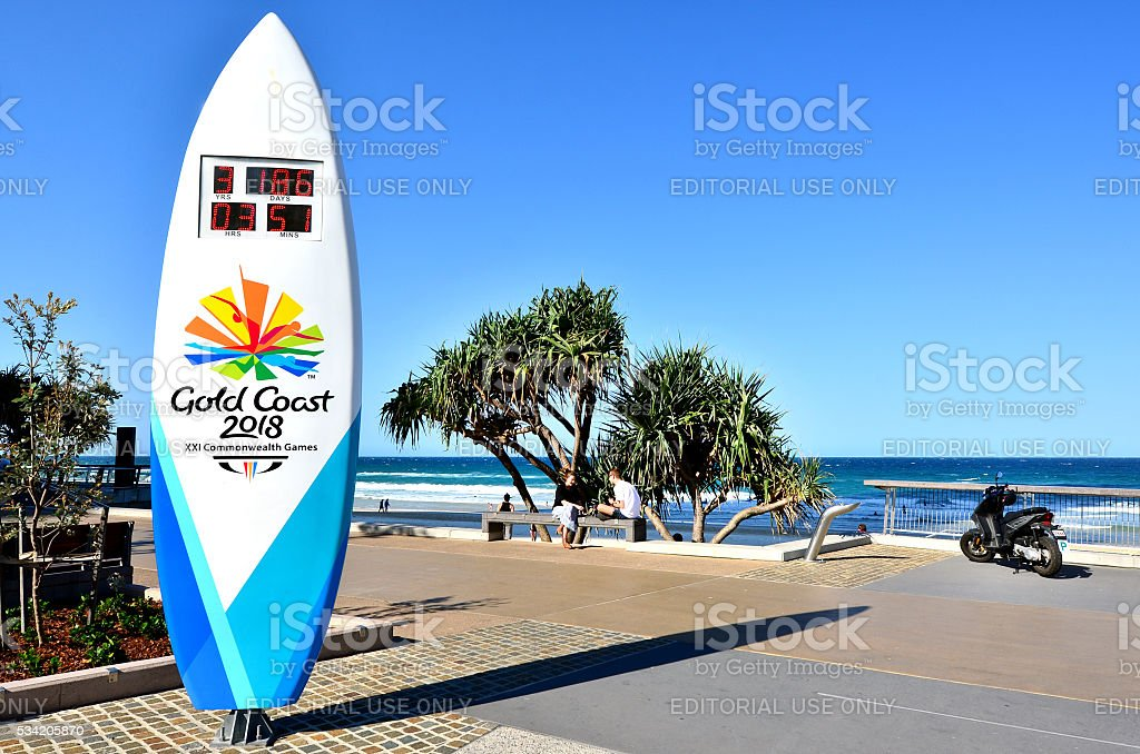 The Gold Coast Commonwealth Games 2018 stock photo
