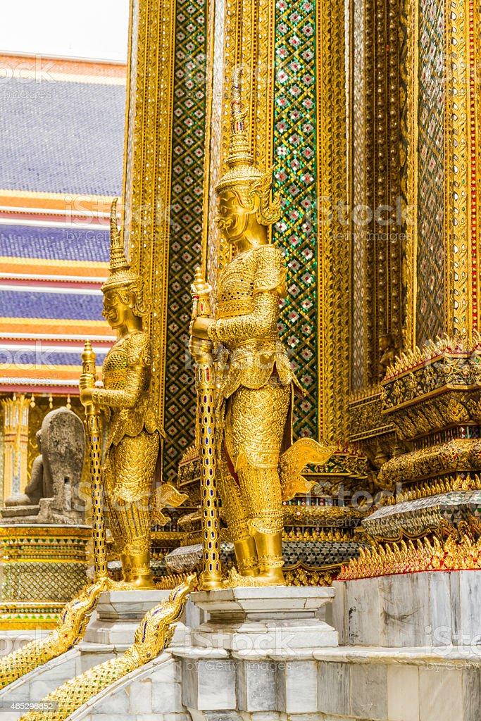 The gold deity. stock photo