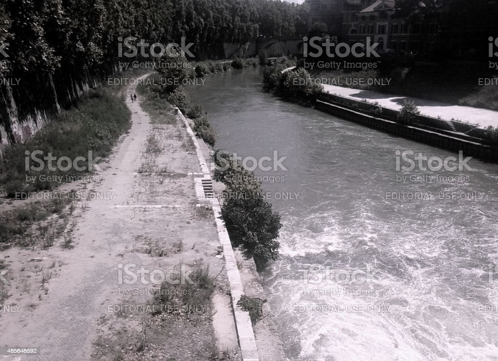 The gold Tiber stock photo