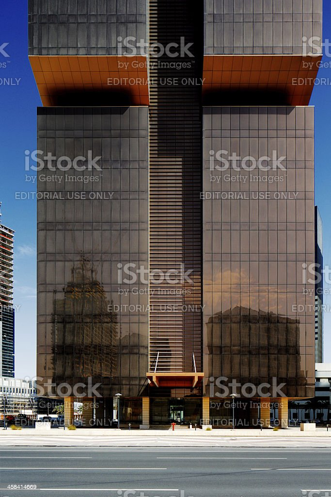 The Golden Bay Tower in Doha, Qatar stock photo