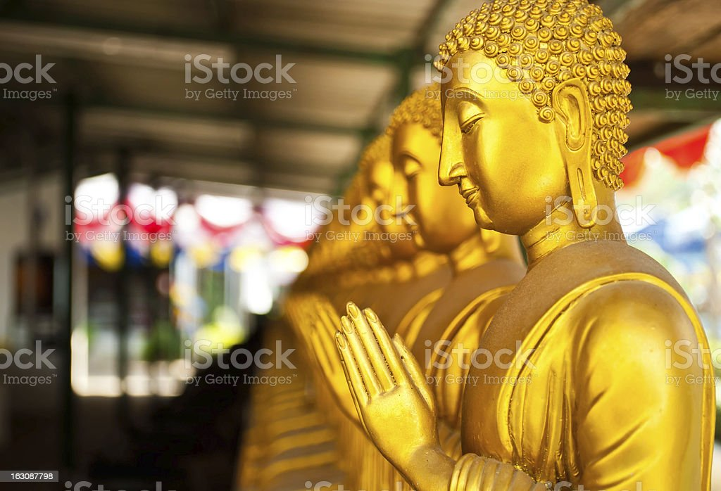 The golden Buddha statue ,thailand royalty-free stock photo