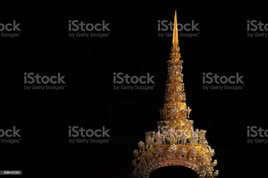 The golden crown. stock photo