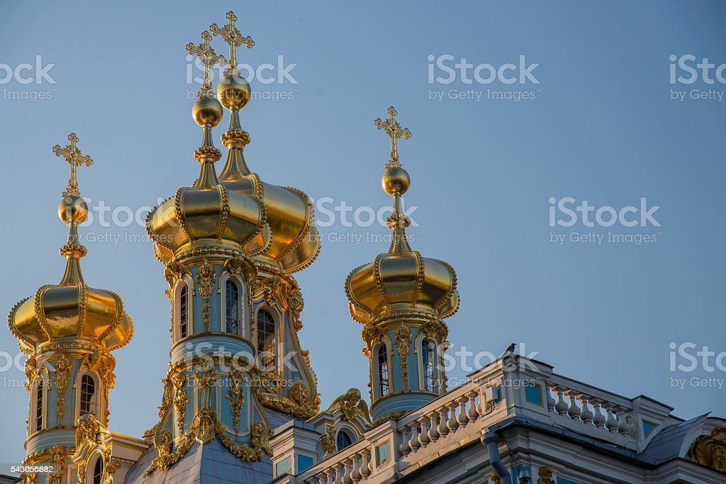 The Golden domes stock photo