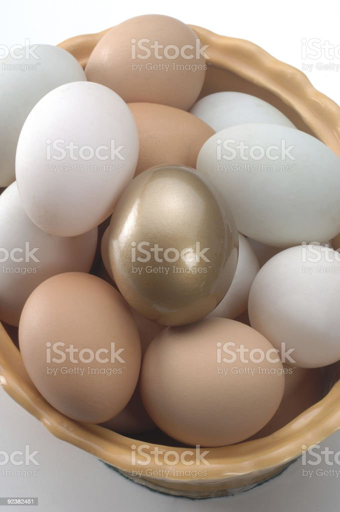 The Golden Egg royalty-free stock photo
