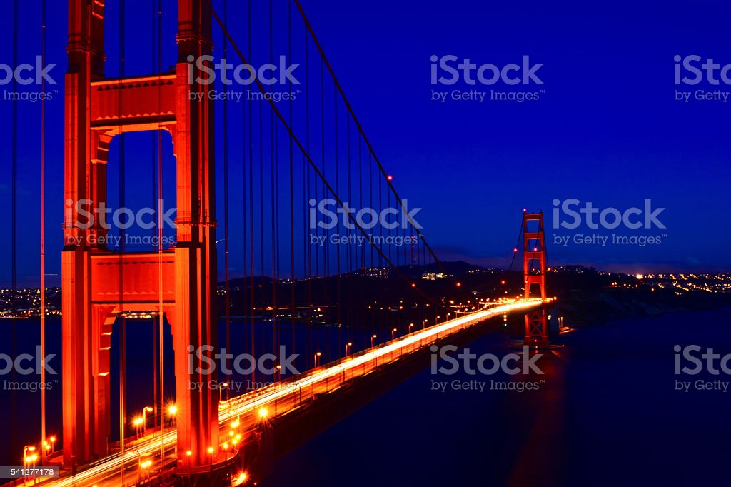The Golden Gate After Dark stock photo