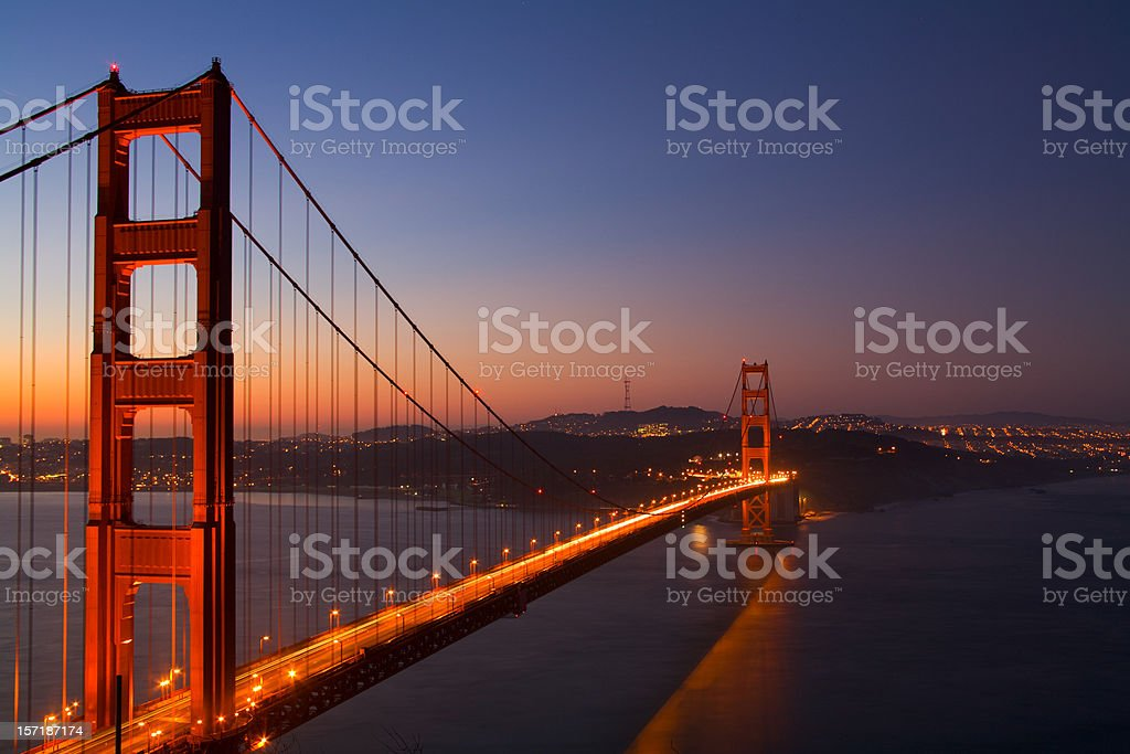 The Golden Gate Bridge at Dawn royalty-free stock photo