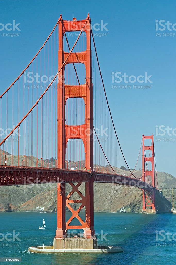 The Golden Gate Bridge in San Francisco royalty-free stock photo