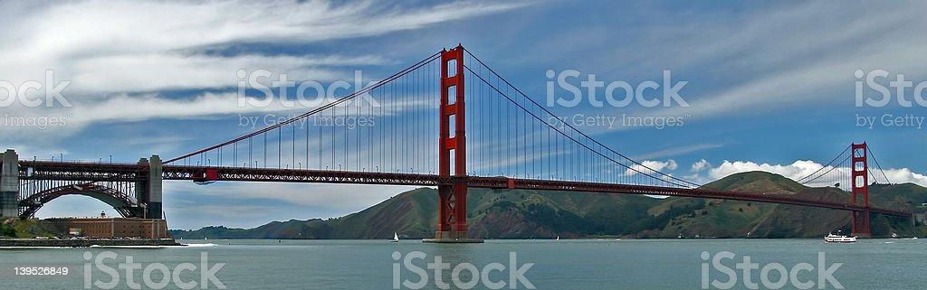 the golden gate bridge panoramic view royalty-free stock photo