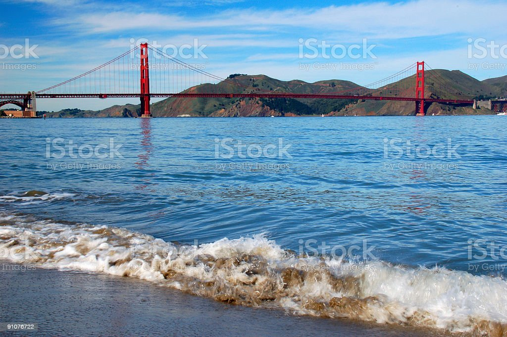 The Golden Gate Bridge royalty-free stock photo