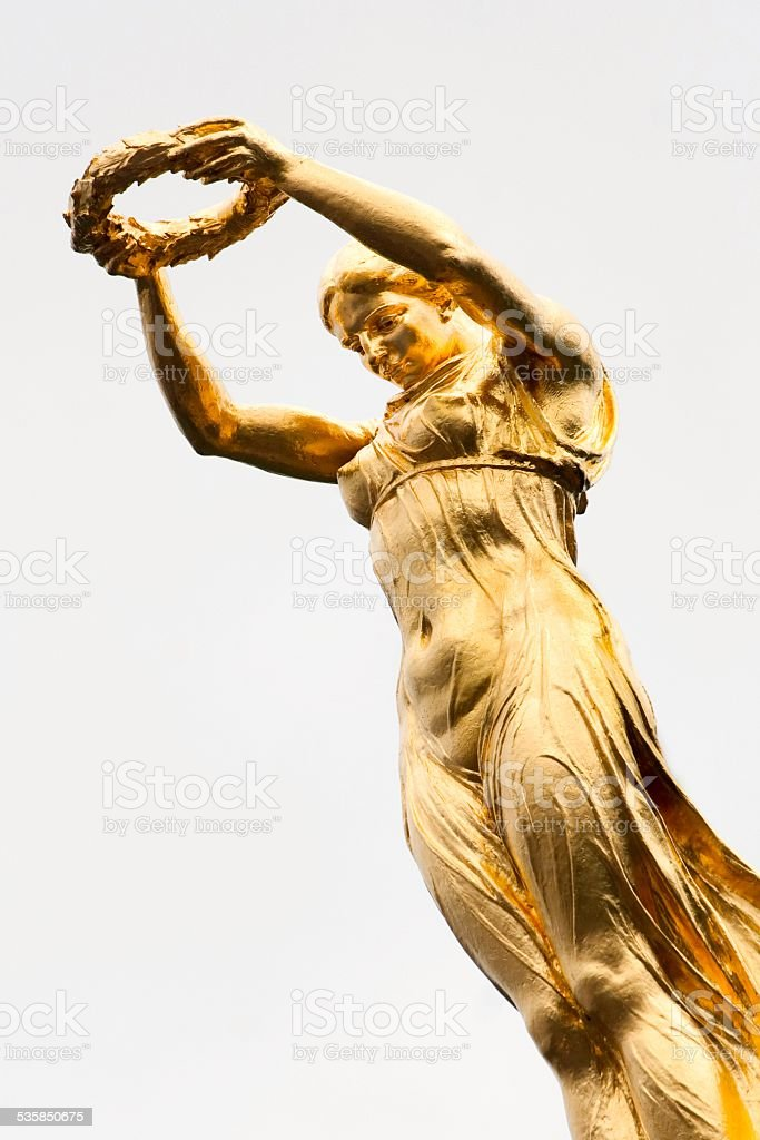 The Golden Lady of Luxembourg. stock photo