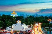 The Golden Mountain and Pom Maha Kan in Bangkok ,Thailand