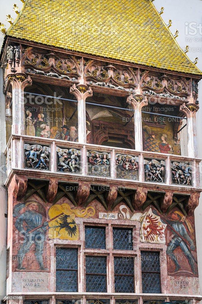 The Golden Roof Detail- Innsbruck stock photo