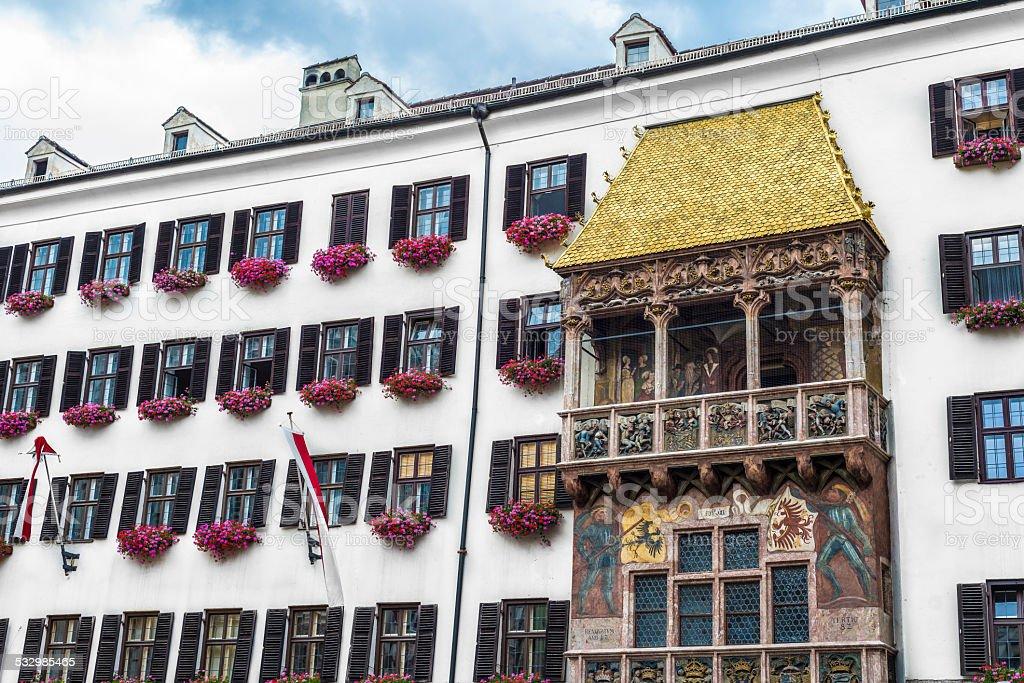 The Golden Roof in Innsbruck, Austria. stock photo