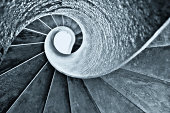 The golden section ratio of spiral staircae