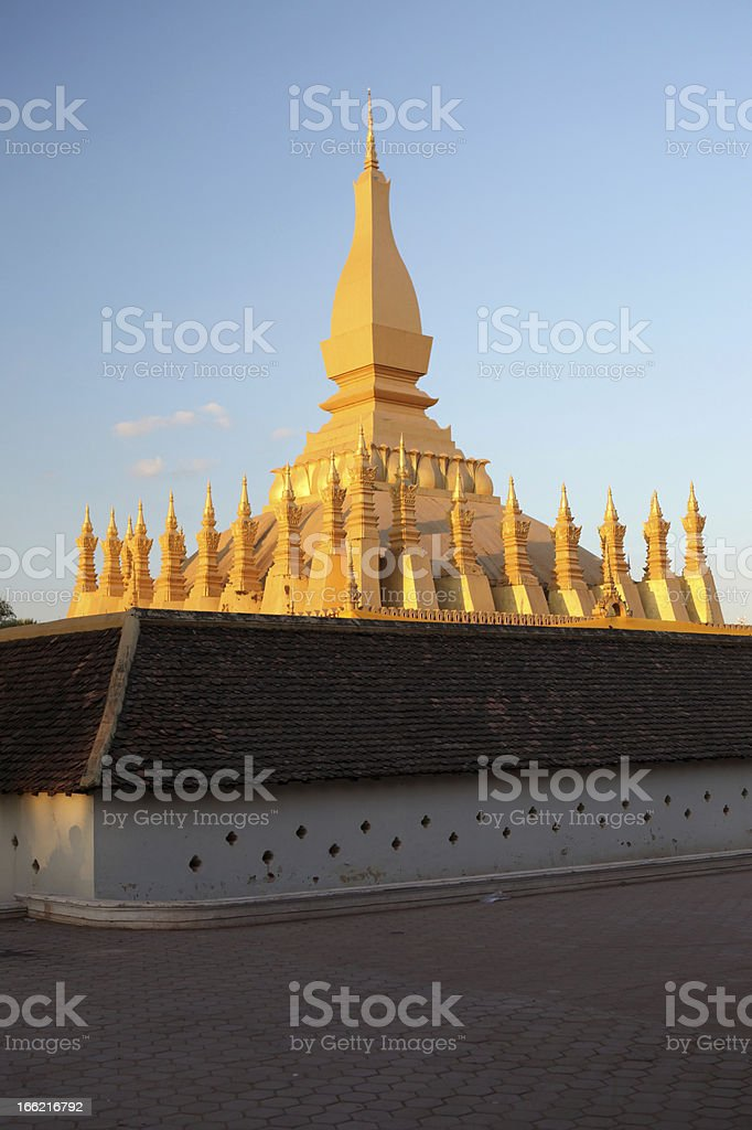 The Golden Stupa, Pha That Luang, in Vientiane, Laos. royalty-free stock photo