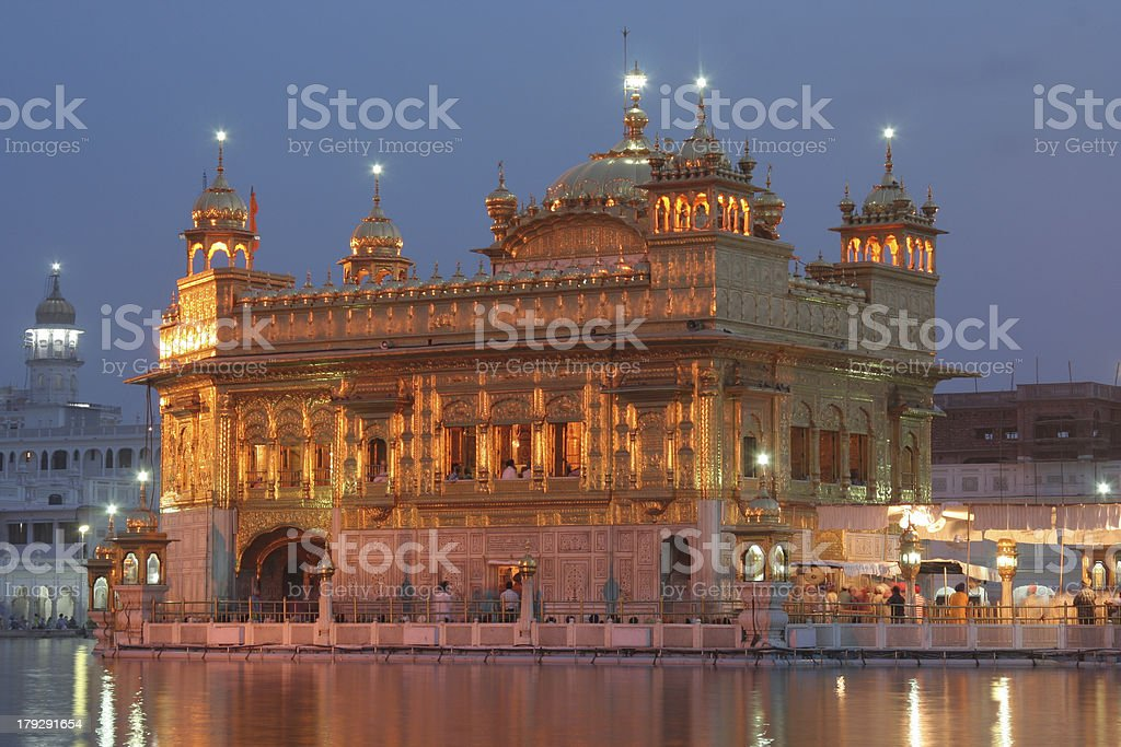 The Golden temple Amritsar, India. stock photo