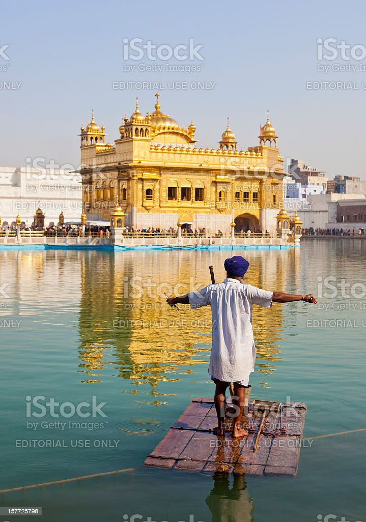 The Golden Temple In Amritsar, India royalty-free stock photo