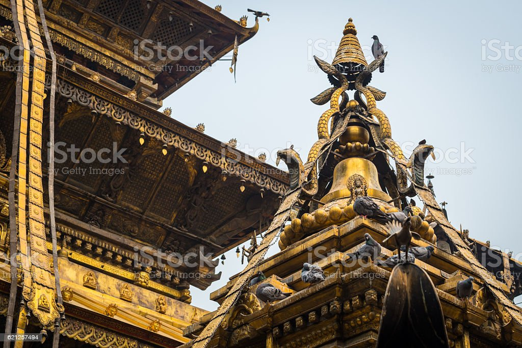 The golden temple in Patan, Lalitpur city, Nepal. stock photo