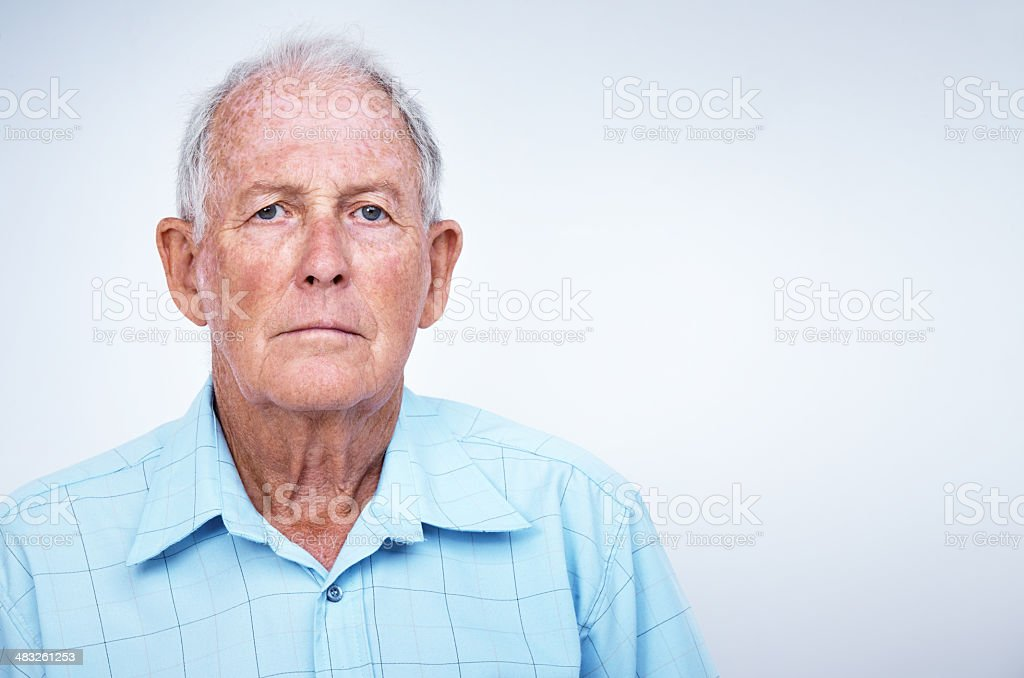 The golden years are not so good stock photo
