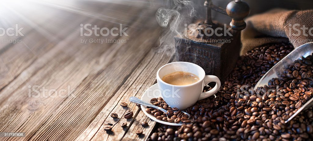 The Good Morning Begins With A Good Coffee stock photo