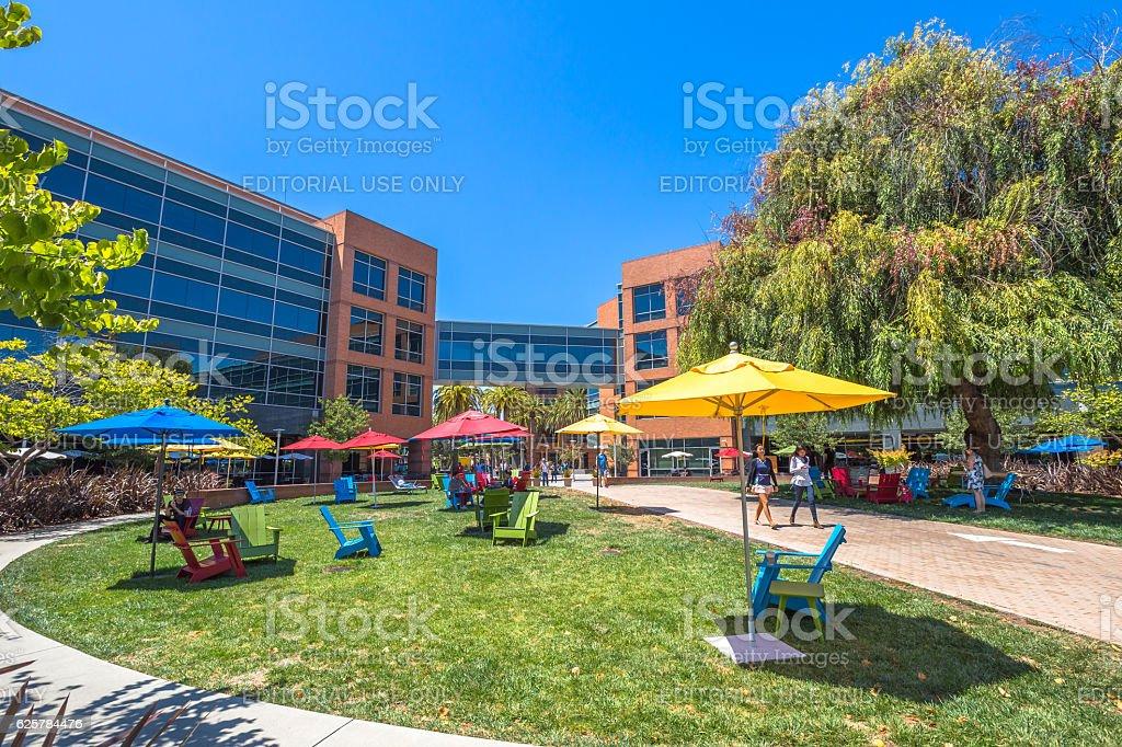 The Google headquarters stock photo