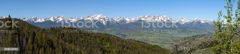 The Gore Range as Seen from Summit County, Colorado stock photo
