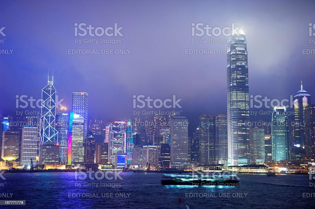 The gorgeous Hong Kong Island skyline stock photo