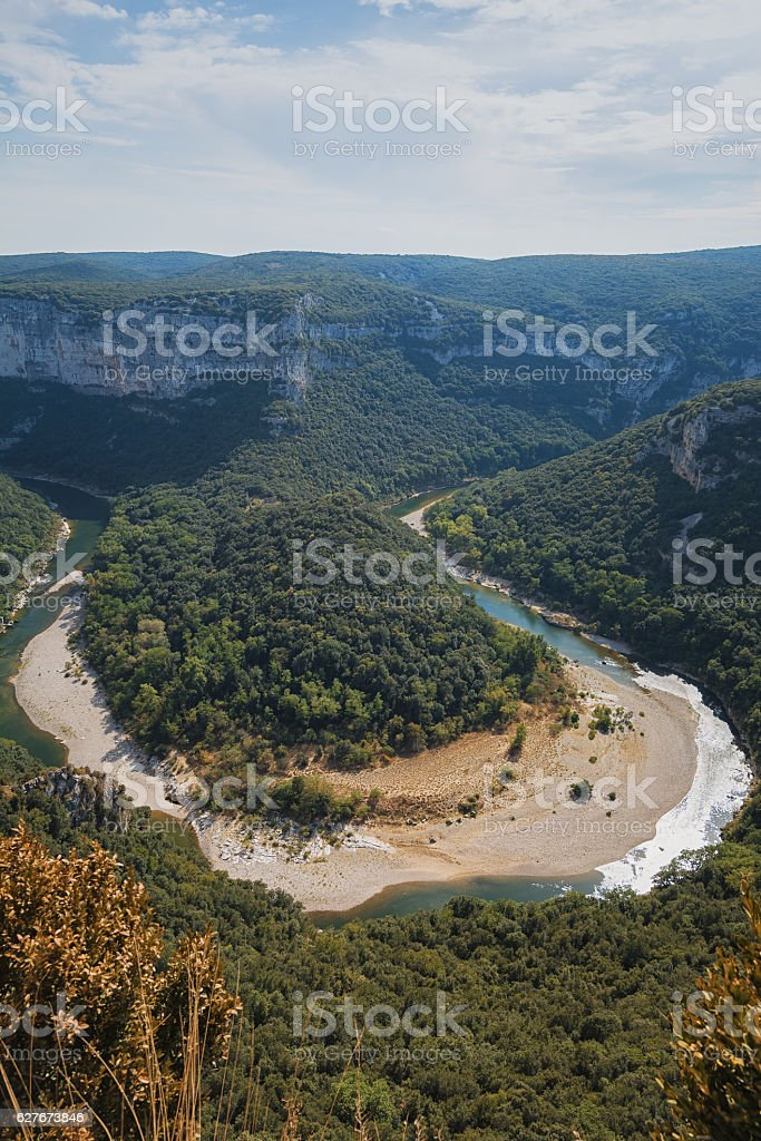 The Gorges de Ardeche in France. stock photo