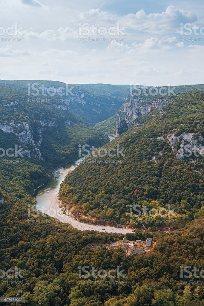 The Gorges de Ardeche in France stock photo