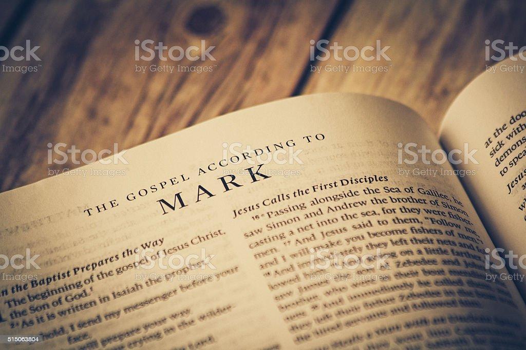 The Gospel According To Mark stock photo
