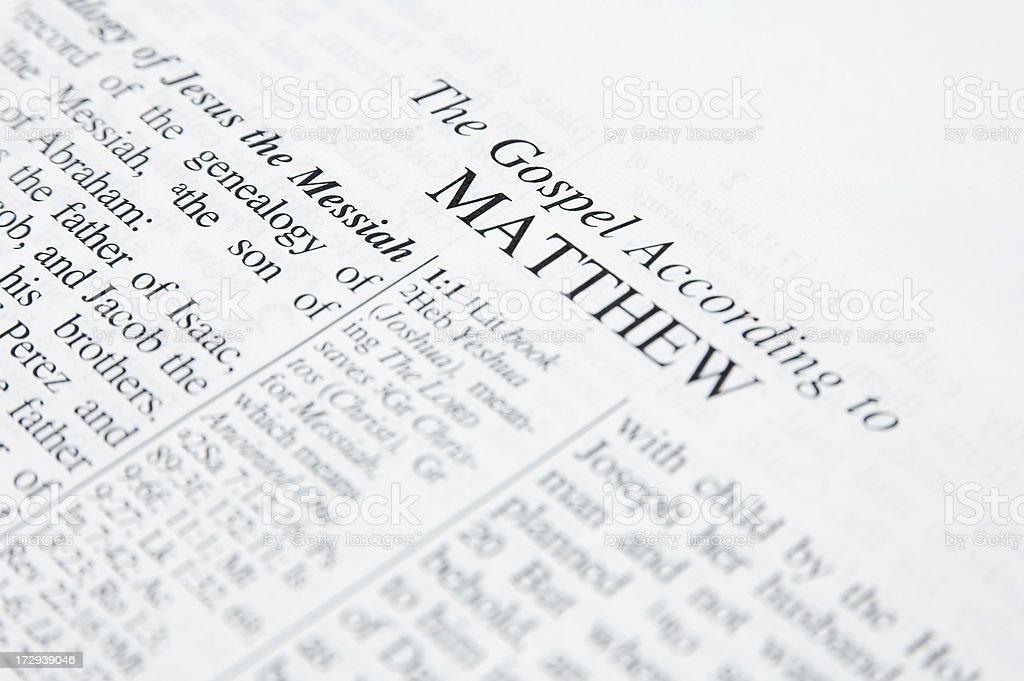 The Gospel of Matthew royalty-free stock photo