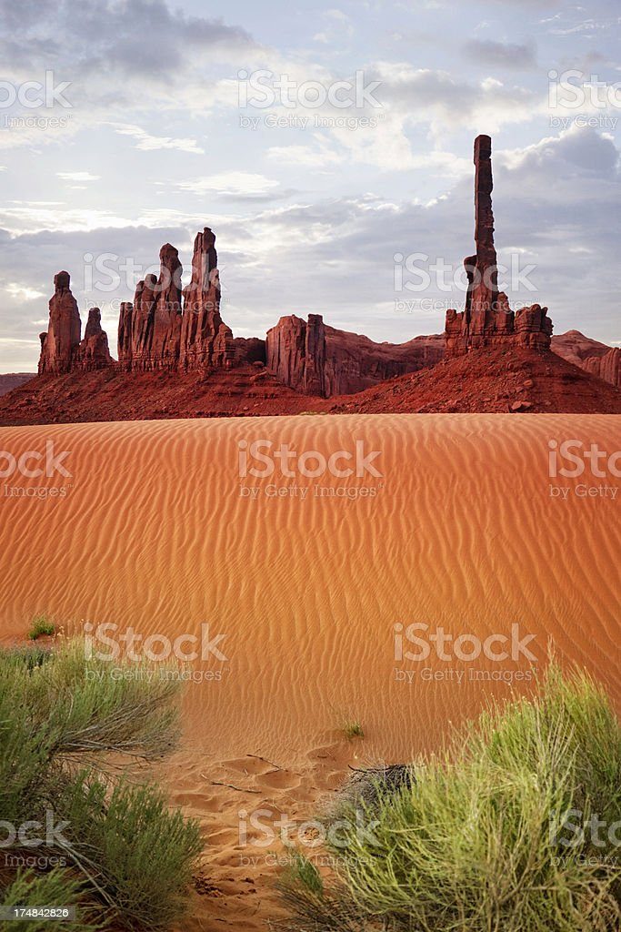 The Gossips and Totem Pole - Monument Valley royalty-free stock photo