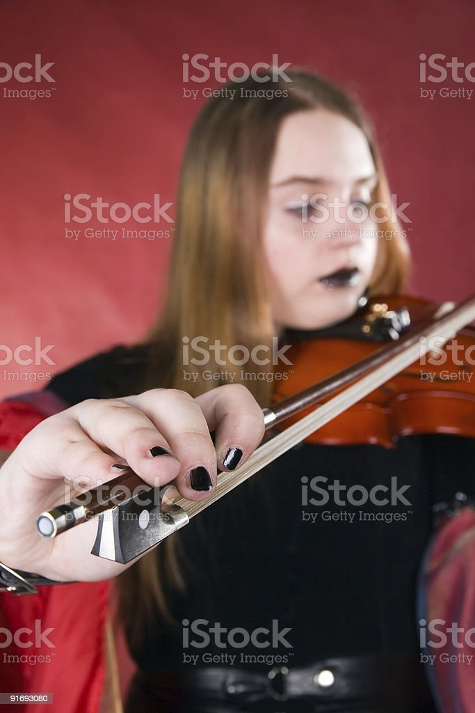 The gothic violinist. royalty-free stock photo