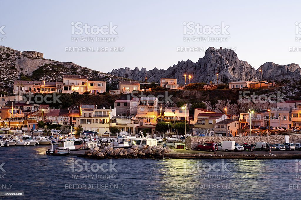 Les goudes in Marseille royalty-free stock photo